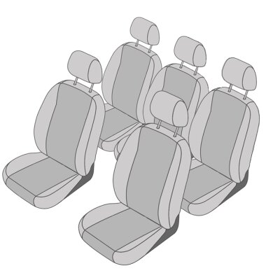 Ford Galaxy III, ab Bj. 2015 - / Maßangefertigtes Komplettsetangebot 5-Sitzer