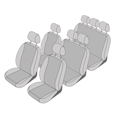 Sitzbezüge vorne PER RENAULT KANGOO