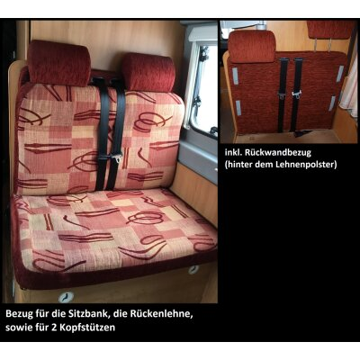 Wohnmobil Citroen Pössl 2win /  Maßangefertigter Rücksitzbezug