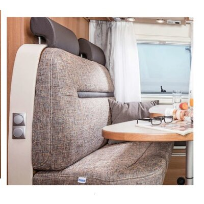 Wohnmobil Sitzbezug Sitzbezuege Schonbezüge Armlehnenbezüge Girona beige beige