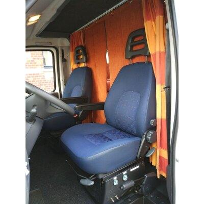 Maßangefertigte Vordersitzbezüge für Wohnmobil Fiat Ducato Typ 244, Bj. 2002-2006 / Fahrer- und Beifahrersitz mit abnehmbarer Kopfstütze