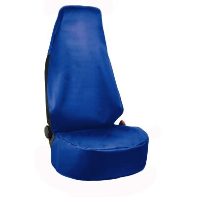 Werkstattschoner / Sitzschoner in Kunstleder blau