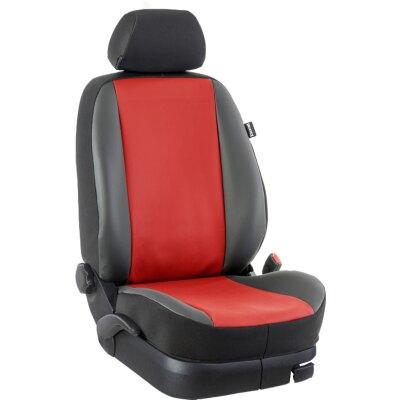 *Audi A3 / 8V Komplettset im Design Kunstleder rot / schwarz, Art.Nr. 9289