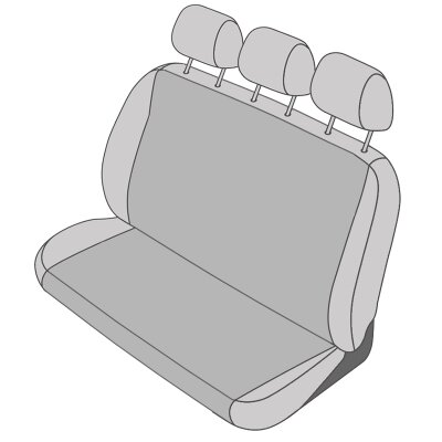 Nissan Primastar, Bj. 2001 - 2016 / Maßangefertigter Rücksitzbezug Dreierbank 3. Reihe