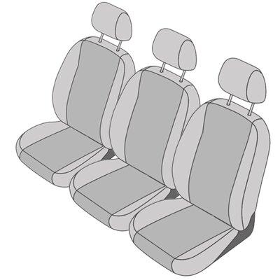 Peugeot 807, Bj. 2001 - 2014 / Maßangefertigter Rücksitzbezug 2. Reihe (3 Einzelsitzbezüge)