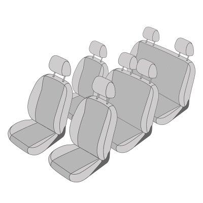 VW Caddy, Bj. 2004 - 2010 / Maßangefertigtes Komplettsetangebot 7-Sitzer