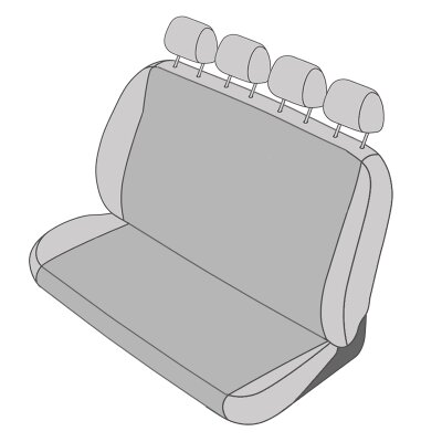 VW Crafter I Doppelkabine, Bj. 2006 - 2016 / Maßangefertigter Rücksitzbezug Viererbank
