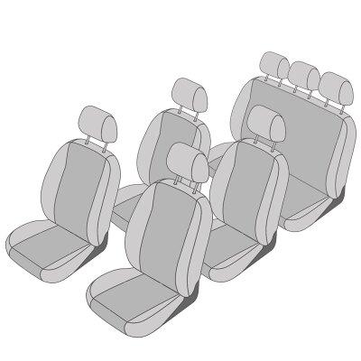 VW T5 California Beach Facelift, Bj. 10/2009 - 2015 / Maßangefertigtes Komplettset 7-Sitzer