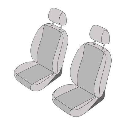 VW T5 Transporter / Caravelle Facelift, Bj. 10/2009 - 2015 / Maßangefertigte Vordersitzbezüge (Einzelsitze)