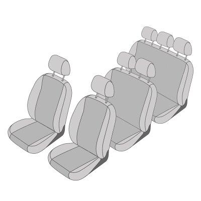 VW T5 Transporter / Caravelle Facelift, Bj. 10/2009 - 2015 / Maßangefertigtes Komplettset 7-Sitzer