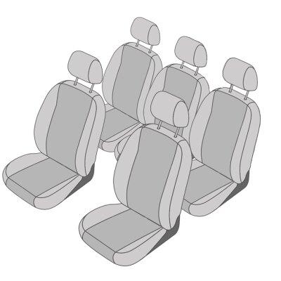 VW Touran Facelift, Bj. 2010 - 2015 / Maßangefertigtes Komplettset 5-Sitzer